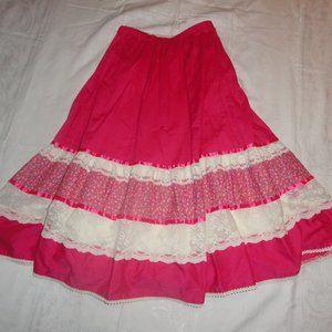 Prairie Skirt Top Cottagecore USA Lace 3 Piece